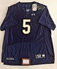 Under Armour Youth Size XL Notre Dame Navy #5 Replica Football Jersey New Nwt