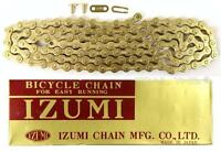 "Izumi Gold 1/2"" x 1/8"" 116L BMX Track Fixed Gear Single-Speed Bicycle Chain"