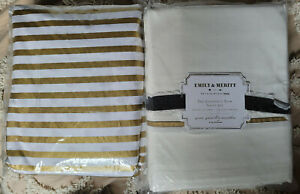 Pottery Barn Teen Emily & Meritt Dottie F/Q Duvet & Contract Trim Queen Sheets
