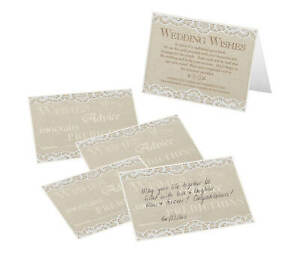 Set of 48 country lace design guest signing cards wedding guest book alternative