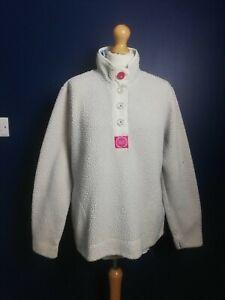 JOULES Fleece High Neck Sweatshirt Size 16