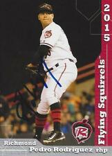 Pedro Rodriguez 2015 Richmond Flying Squirrels Signed Card