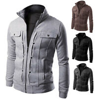 New Fashion Men's Slim collar jackets zipper jacket Tops Casual coat outerwear