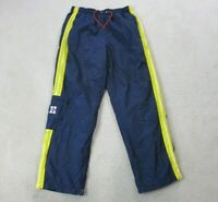 VINTAGE Tommy Hilfiger Windbreaker Pants Adult Large Blue Yellow Spell Out 90s