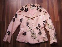 16248d59fe Emmanuelle Khanh Paris @ Jacke Designer pastellrosa chinesisch Size M GB 12
