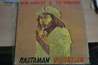 BOB MARLEY & THE WAILERS  RASTAMAN VIBRATION  1976 LP GATEFOLD  ISLAND ILPS 4383