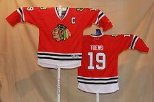 Jonathan Toews CHICAGO BLACKHAWKS Reebok NHL Premier JERSEY Youth Small/Medium r