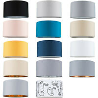 Easy Fit Pendant Light Shade 35cm Fabric Drum Lampshade Table Lamp / Ceiling