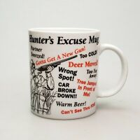 Hunter's Excuse Mug Retro 1980s Novelty Coffee Cup Gift for Him 10oz