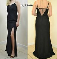 NEXT UK 12 NEW TAGGED £95 BLACK LACE SPECIAL OCCASION COCKTAIL PARTY MAXI DRESS