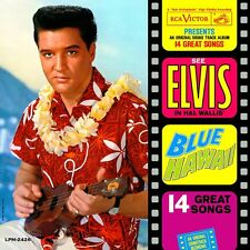 Elvis Presley - Blue Hawaii 60's Vinyl LP Sticker, Magnet