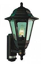 ASD Black Coach Lantern 110 Deg Polycarbonate With PIR Sensor 6m Range Cl/bk100p