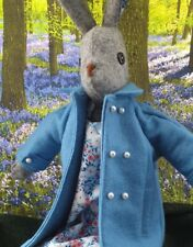 Stunning Luna Lapin Handmade ClassicWool Coat In Powder Blue, With Pearl Buttons