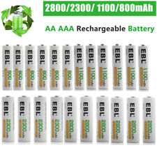 EBL Lot AA AAA 2800mAh 2300mAh 1100mAh 800mAh NI-MH Rechargeable Batteries + Box