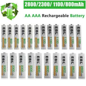 EBL Lot AA AAA Rechargeable Batteries 2800mAh 2300mAh 1100mAh 800mAh NI-MH + Box