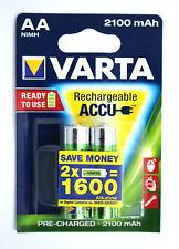 Varta Accu 2er AA 2100 mAh 56706 HR6 1.2V  Wiederaufladbare Batterie Akku