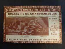 France #257-C2 Carnet CHAMPIGNEULLES Serie NANCY Jeanne d ARC PUBLICITE C 250Eur