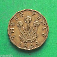 1949 George VI Threepence SNo39305