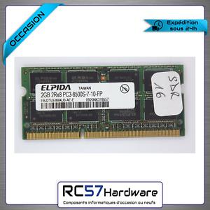 Mémoire PC Portable DDR3 Elpida 2Gb PC3-8500S/1066MHz (2Go-EEBJ21UE8BAU0-AE-E)
