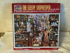"Great American Puzzle""THE SLEEPY SHOPKEEPER"" Puzzle Within a Puzzle Jigsaw 550pc"