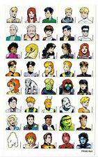 1997 DC Comics Legion of Superheroes PROMO Sticker sheet.