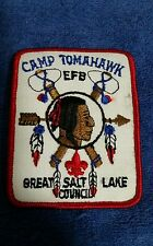 BSA Scouting Camp Tomohawk EFB Great Salt Lake Council Patch - Vintage