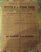 Constitution de la République Française Déclaration des Droits de l'Homme