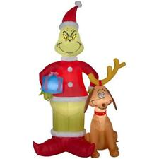 8 FT GRINCH AND MAX Christmas Airblown Lighted Yard Inflatable
