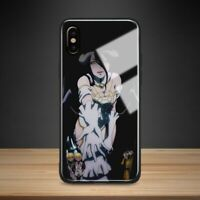Overlord Albedo Anime Tempered Glass Case iPhone 6 6S 7 8 + X XR XS 11 Pro Max
