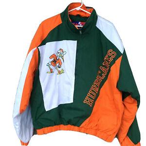 Vintage Miami Hurricanes Jacket Pro Player Mens XL Sebastian Ibis Pullover