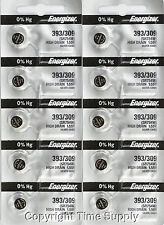 10 pcs 393 / 309  Energizer Watch Batteries SR754W SR754 0% HG