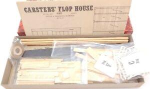 Campbell HO Scale Wood Model Kit Carsyen's Flop House #413 Unassembled