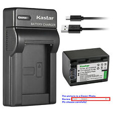 Kastar Battery Slim Charger for Sony Genuine NP-FH70 NP-FH50 NP-FH40 NP-FH30