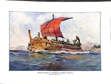 Navire léger galère Trière époque antiquité de la Grèce par Albert Sébille 1959