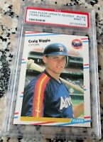 CRAIG BIGGIO 1988 Fleer Update GLOSSY SP Rookie Card RC PSA 9 Low # HOF Astros $