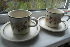 Marks & Spencer Autumn Leaves Cups & Saucers x 2 M & S British