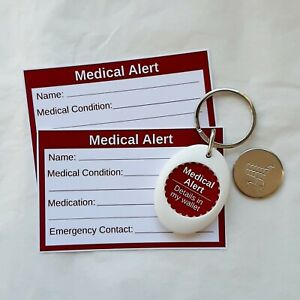 Medical Alert Trolley Coin Token Keyring & Cards by Curiosity Crafts