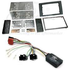 Connects2 Saab 95 08 on Double Din Fitting Kit with Stalk Steering Adaptor