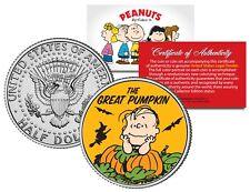 Peanuts THE GREAT PUMPKIN Halloween LINUS JFK Half Dollar U.S. Coin - LICENSED