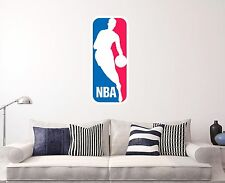 "NBA Logo Wall Decal Sports Basketballl Sticker Decor Vinyl Door Window 16"" x 28"""