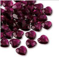 Wedding table decorations Burgundy Heart Diamantes