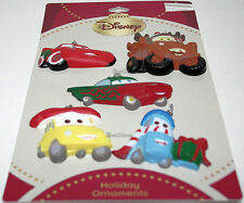 2011 NEW CARS MCQUEEN MATER RAMONE LUIGI GUIDO 3-D Christmas Ornament 5 Set NEW