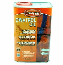 OLIO ANTIRUGGINE PENETRANTE OWATROL OIL 1 LT ADDITIVO PER PITTURE PRIMER