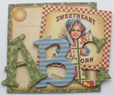Graphic 45 - GARDEN - August - A Place in Time - Alphabet Chipboard Letters 1.5""