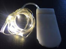 10 LED WARM WHITE CR2032 Battery SW 1m Long String Lights - UK Seller/stock