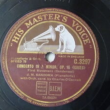 "78rpm 12"" J M SANROMA grieg concerto / tchaikowsky concerto - condensed C 3297"