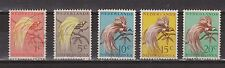 Indonesia Netherlands New Guinea 25 - 29 used 1954 Paradijsvogels Paradise birds