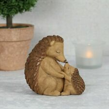Hedgehog Mother And Baby Hoglet Figurine With Sentiment Note