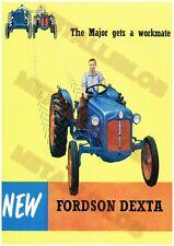 A3 - 3 para 2 Oferta Fordson Tractor /& sobre orugas Poster Vintage