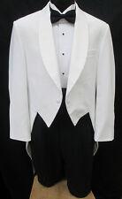 Boys White Tuxedo Tailcoat Costume Theater Halloween Vampire Dracula Cosplay 4B